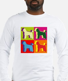 Poodle Silhouette Pop Art Long Sleeve T-Shirt