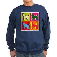 Poodle Silhouette Pop Art Sweatshirt