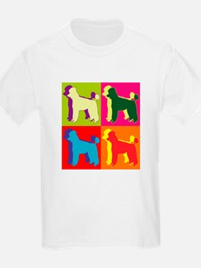 Poodle Silhouette Pop Art T-Shirt