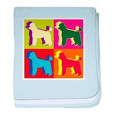 Poodle Silhouette Pop Art baby blanket