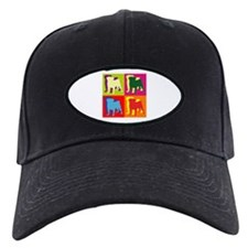 Pug Silhouette Pop Art Baseball Hat