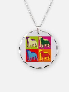 Rottweiler Silhouette Pop Art Necklace