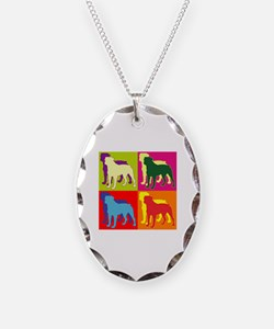 Rottweiler Silhouette Pop Art Necklace