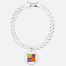 Rottweiler Silhouette Pop Art Bracelet