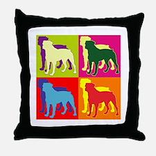 Rottweiler Silhouette Pop Art Throw Pillow