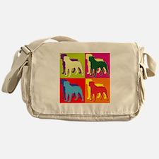Rottweiler Silhouette Pop Art Messenger Bag