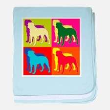 Rottweiler Silhouette Pop Art baby blanket