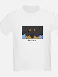Anime Rottweiler Kids T-Shirt