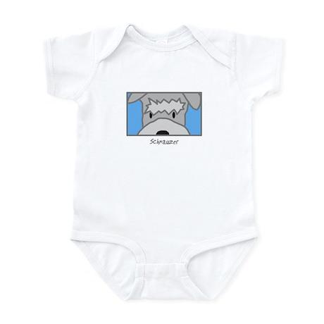 Anime Schnauzer Baby Bodysuit