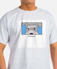 Anime Schnauzer Ash Grey T-Shirt