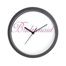 Cute Bridesmaid Wall Clock