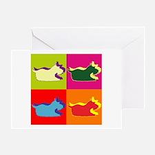 Schnauzer Silhouette Pop Art Greeting Card