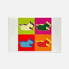 Schnauzer Silhouette Pop Art Rectangle Magnet (100