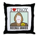 Custom Throw Pillow: Recall Janice - Love Troy