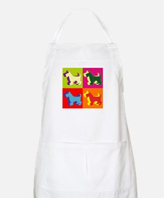 Scottish Terrier Silhouette Pop Art Apron