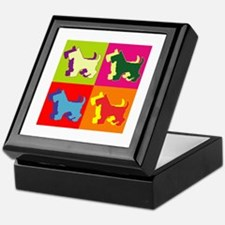 Scottish Terrier Silhouette Pop Art Keepsake Box
