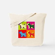 Scottish Terrier Silhouette Pop Art Tote Bag