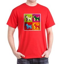 Scottish Terrier Silhouette Pop Art T-Shirt