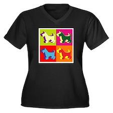 Scottish Terrier Silhouette Pop Art Women's Plus S