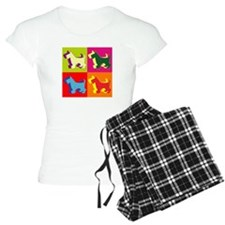 Scottish Terrier Silhouette Pop Art Pajamas