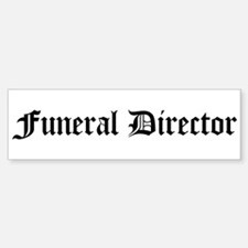 Funeral Director Bumper Car Car Sticker