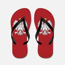 Poland Coat Of Arms Flip Flops