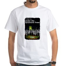under the sycamore trees in color T-Shirt
