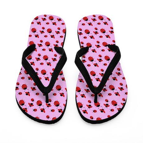 Cute Ladybug Flip Flops