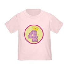 4th Birthday Princess Crown T