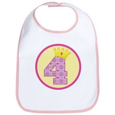 4th Birthday Princess Crown Bib