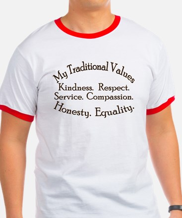 My traditional Values Ringer Tee