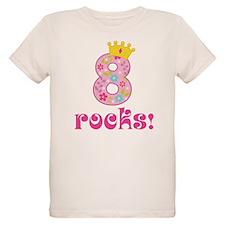 8th Birthday Princess Crown T-Shirt