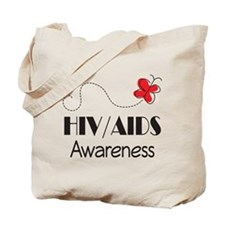 HIV/AIDS Awareness Butterfly Tote Bag