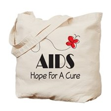 Butterfly AIDS Awareness Tote Bag