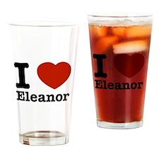 I love Eleanor Drinking Glass