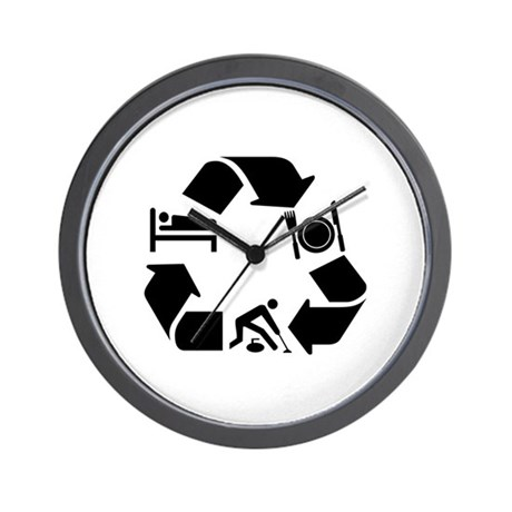 Curling designs Wall Clock