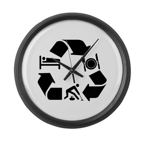 Curling designs Large Wall Clock