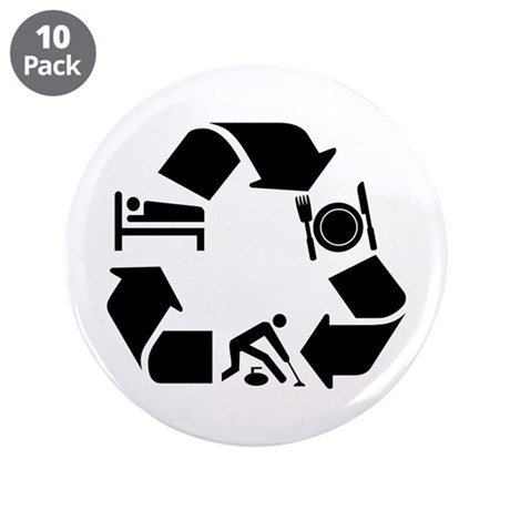 "Curling designs 3.5"" Button (10 pack)"