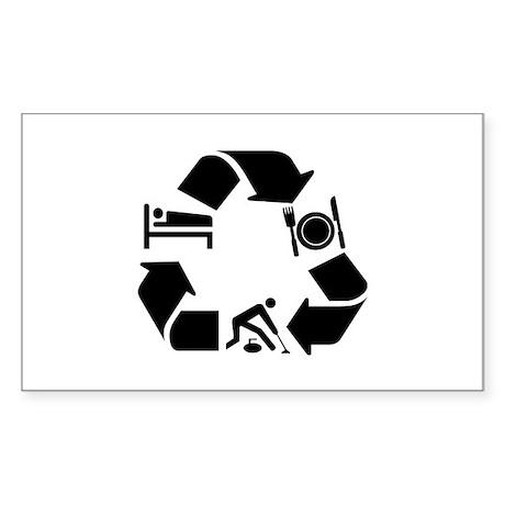 Curling designs Sticker (Rectangle)