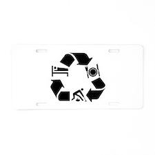Curling designs Aluminum License Plate