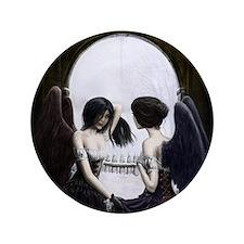 "Skull Illusion 3.5"" Button"