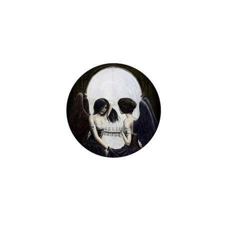 Skull Illusion Mini Button