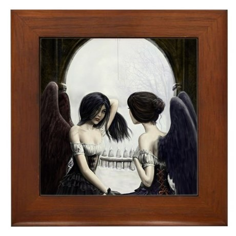 Skull Illusion Framed Tile