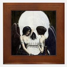 Skull Illusion Framed Tile