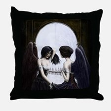 Skull Illusion Throw Pillow