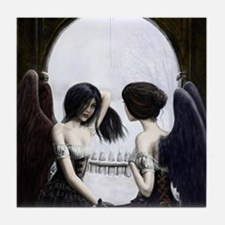 Skull Illusion Tile Coaster