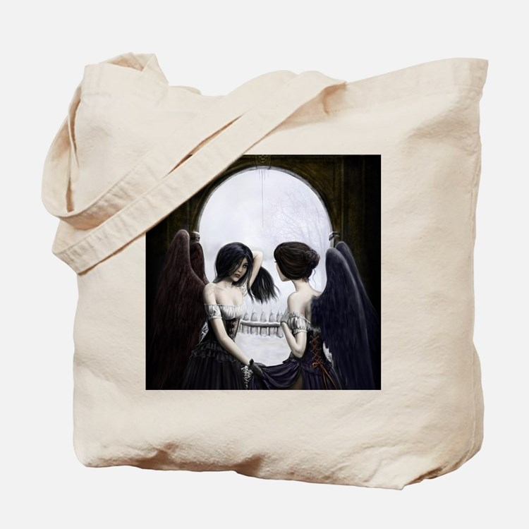 Skull Illusion Tote Bag