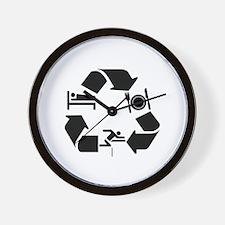 Hurdling designs Wall Clock