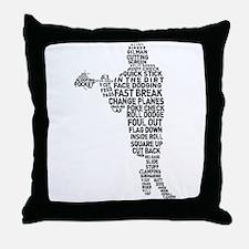 Lacrosse Terminology Throw Pillow