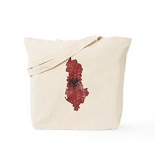 Vintage Albania Flag and Map Tote Bag